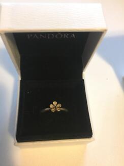 Pandora pink cherry blossom RETIRED ring