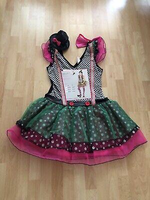 hippes Neonkleid Petticoat Kleid sexy Clown Kostüm Fasching Karnevall Gr. 40 - Sexy Clown Kostüm