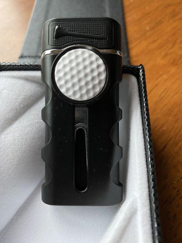 Vector CADDIE Golf Cigar Single Jet Lighter - Black - New