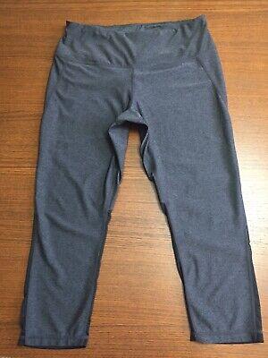 Women's Zella Size Large Capri Athletic Pants With Mesh Calf Yoga *New! Get Fit!