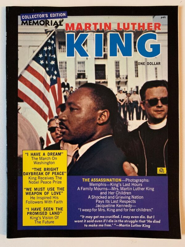 Vintage 1968 Martin Luther King Memorial Country Wide Magazine RARE