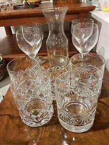 Crystal Glasses, wine glasses, decanter Manningham Port Adelaide Area Preview