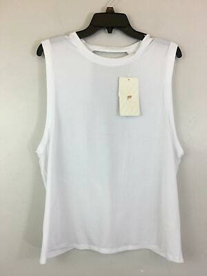 Women's Fabletics Lacey Knot Open Back Tank Top, Size L - Solid White