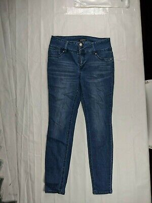 D. Jeans Women's Mid Rise Skinny Jeans Stretch Dark Wash Size 10