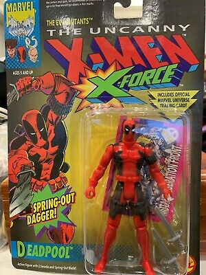 1992 The Uncanny X-Men X-Force Deadpool Action Figure, MOC, Toy Biz, sealed
