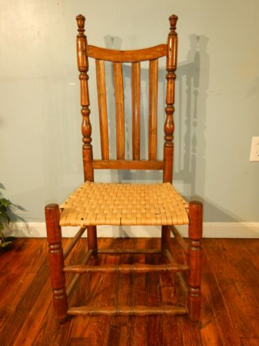 Antique William & Mary Slat Back Chair Turned Finnels