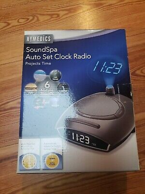Homedics SoundSpa Auto Set Clock Radio