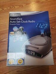 Homedics SoundSpa Auto Set Clock Radio