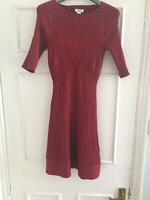 Issa Knit Red Bodycon Dress  Alaia Style Size S