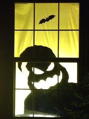 "Halloween Window Silhouette Scary Monster 60"" x 42"" Holiday Decorations - Halloween Window Silhouette"
