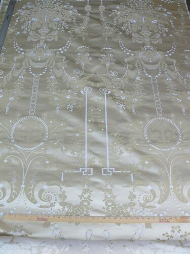BY REPEAT 1.9YD SCALAMANDRE NEOCLASSICAL MEUSE ORNAMENTAL WHEAT CREAM MSRP$718!