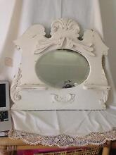 Divine 1880's White timber Mirror Shabby Chic Burwood Burwood Area Preview