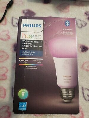 Philips Hue White and Color Ambience A19 E26