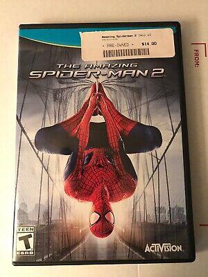 The Amazing Spider-Man 2 Nintendo Wii U, 2014 Game & Case