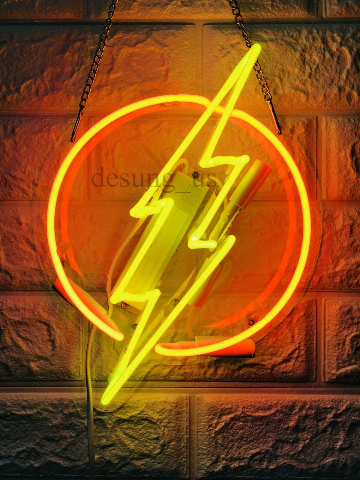 "New Thunder Flash Neon Light Sign 14"" Lamp Beer Pub Acrylic"