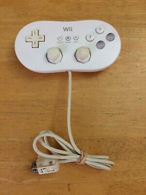 Genuine OEM Nintendo Wii Classic Controller White RVL-005 TESTED WORKING!!