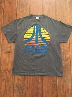 Vintage Atari Sunrise Logo T Shirt Adult X-Large Gray color Good Condition XL