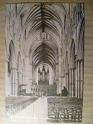 Lincoln,Cathedral, The Nave: Vintage Postcard (Tuck's S.no.6475)