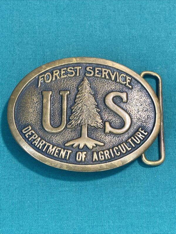 Forest Service US Department of Agriculture 1976 Vintage Belt Buckle Heritage
