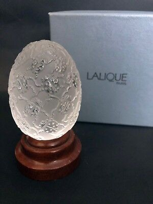 LALIQUE Cocinelles Lady Bug Crystal Egg with Box MINT CONDITION - Lady Bug Eggs