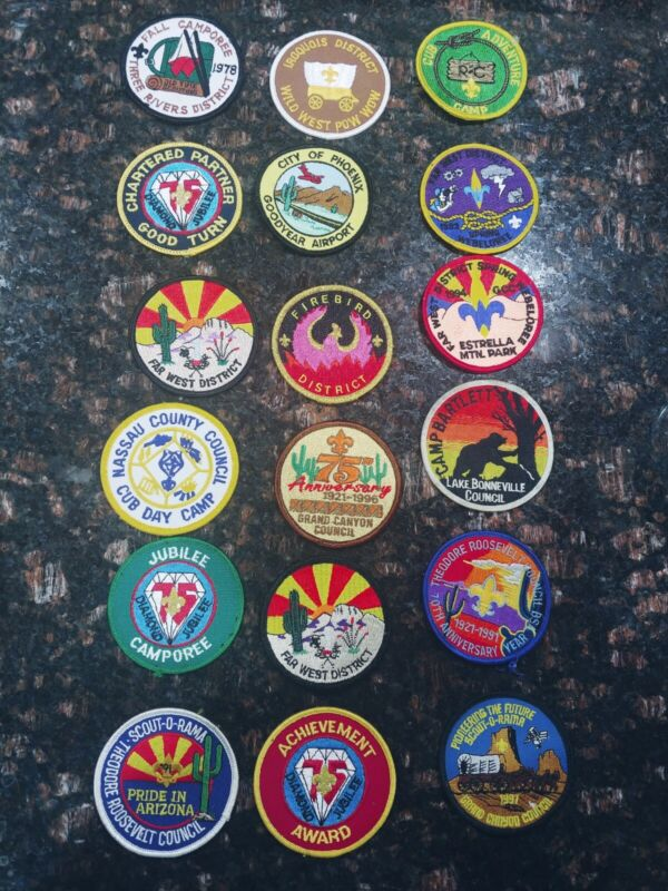 Vintage boy scout patches and pins lot