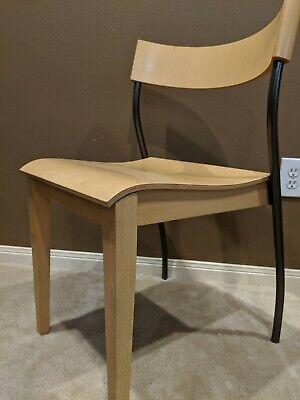 Vintage Pair of Birch Ikea Chairs Mid Century Modern Johannes Andersen Danish  Birch Modern Chair