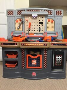 Step 2 Home Depot Workbench and Tools