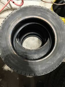 "4 FIRESTONE WINTERFORCE 14"" tires"