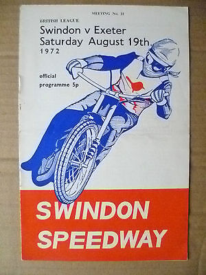 Speedway- 1972 British League SWINDON v EXETER, 19 August