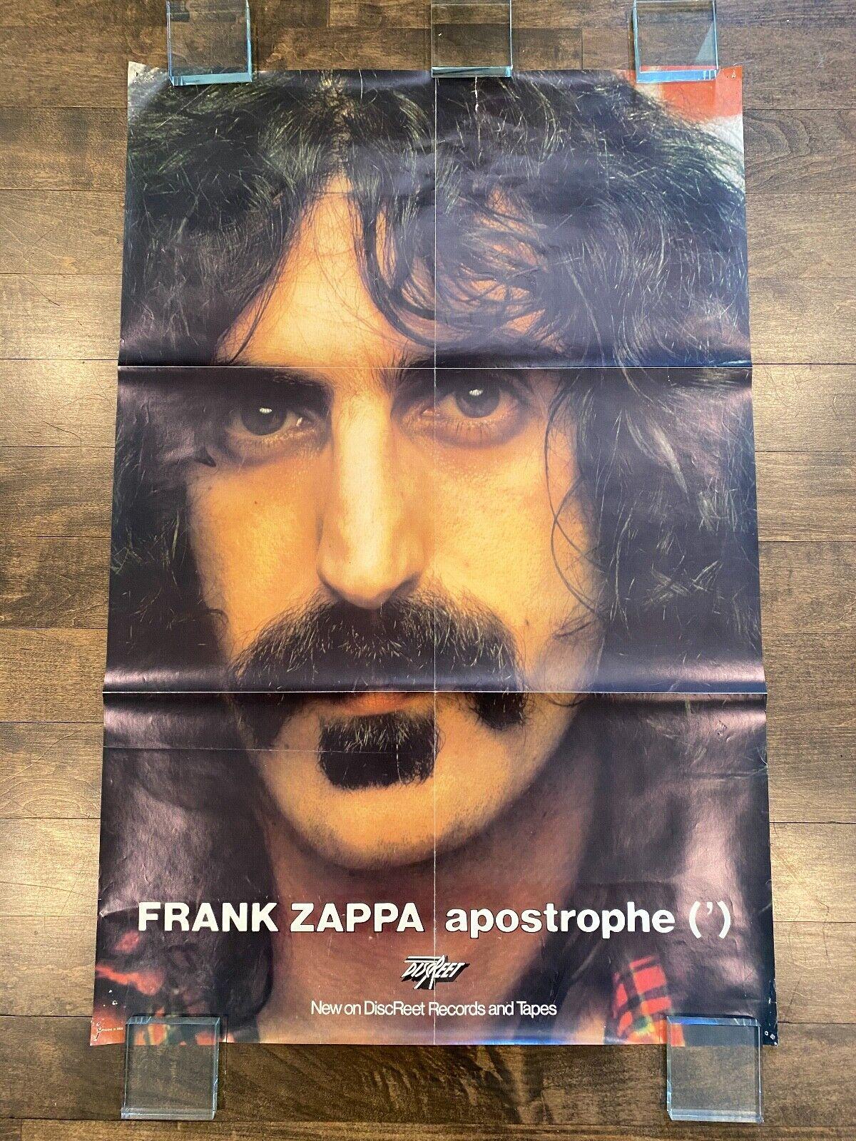 Frank Zappa Apostrophe 1974 Discreet Records Promo Poster - ULTRA RARE - $75.00