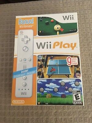 Nintendo Wii Play+Bonus Wii Remote NEW,SEALED IN BOX