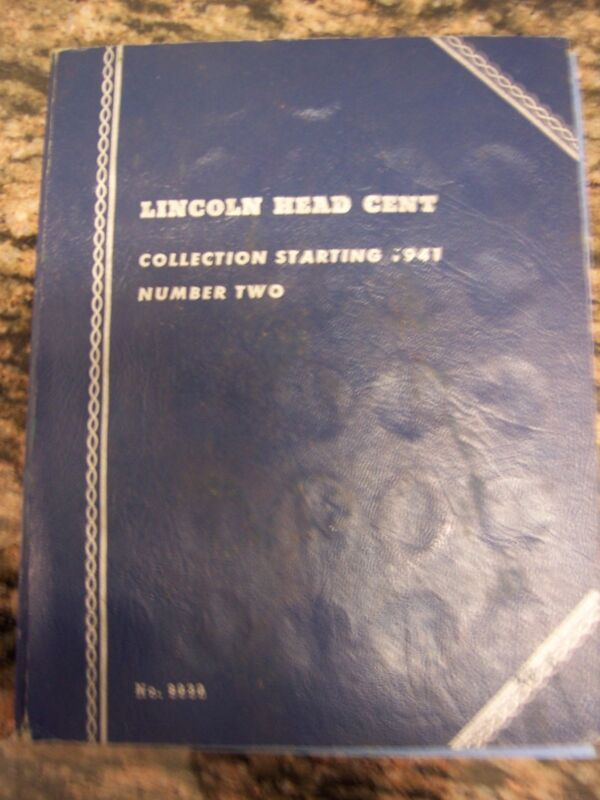 WHITMAN BLUE BOOKLET OF ASSORTED LINCOLN ONE CENT COINS (NICE)
