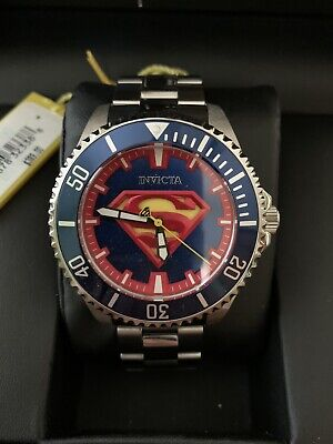 New Invicta 47mm DC Comics Justice League Grand Diver Automatic Superman Watch