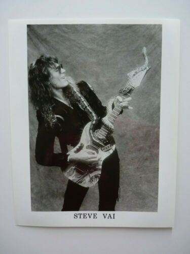 Vintage Steve Vai Whitesnake B&W Press Kit  8x10 Promo Photo Picture #2