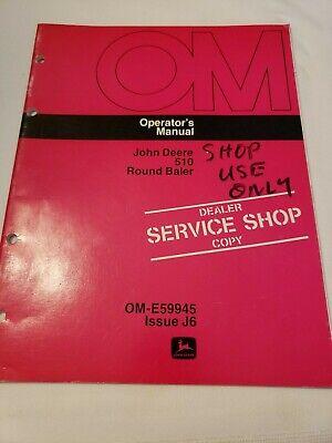 John Deere 510 Round Baler Owners Operators Manual