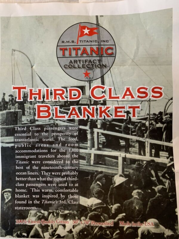 R.M.S. Titanic Inc. Artifact Collection Third Class Blanket White Star Line