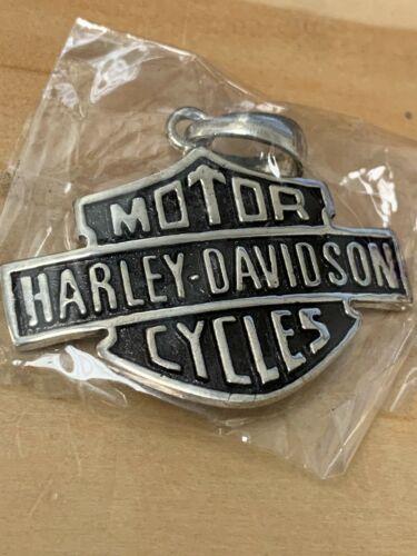 Harley Davidson Logo Pendant 925 Sterling Silver Large
