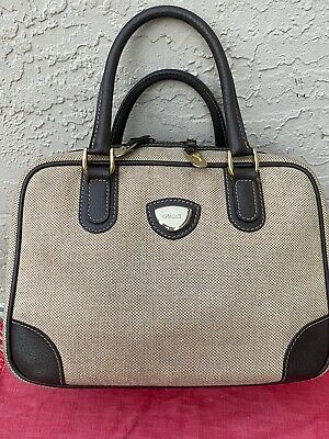 VINTAGE GUCCI DOCTOR SATCHEL SPEEDY CANVAS & LEATHER BAG