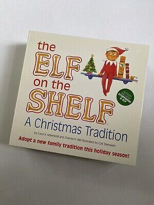 Elf on the Shelf Blue Eye Boy Doll & A Christmas Tradition Book New