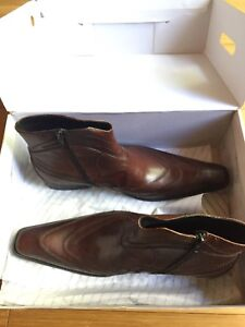 BRAND NEW ALDO LEATHER DRESS BOOTS MENS SIZE 9