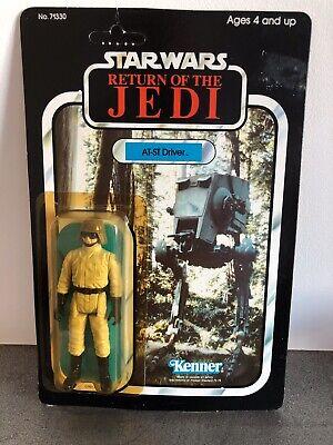 Vintage Star Wars AT ST driver Kenner 77 back sealed MOC