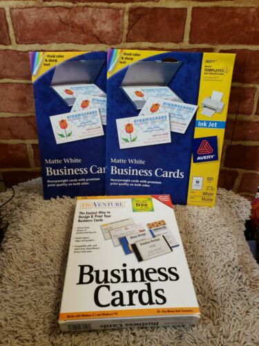 Pro Venture Business Cards Software (Platform: Windows 95) PLUS CARD STOCK 2903
