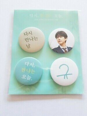 K-POP SUPER JUNIOR KYUHYUN FAN MEETING OFFICIAL LIMITED PIN BUTTON