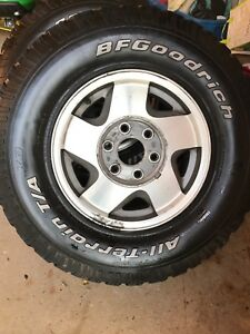 4 tires and rims - 1997 Chev K1500 6 bolt pattern