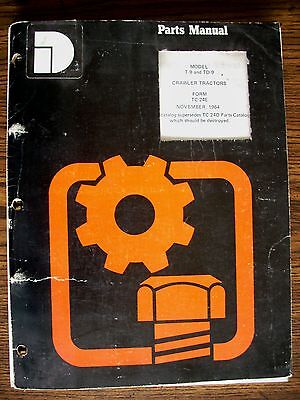 Ih Farmall Mccormick International T9 Td9 Crawler Parts Manual