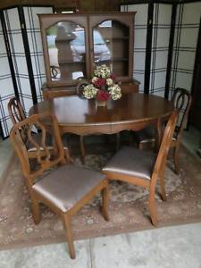Malcolm Dining Table, Chairs and China Cabinet