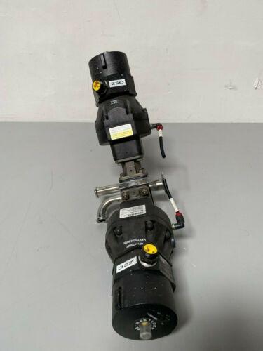 2 ITT Sherotec Stainless Steel Diaphragm Valves w/ Position Monitor