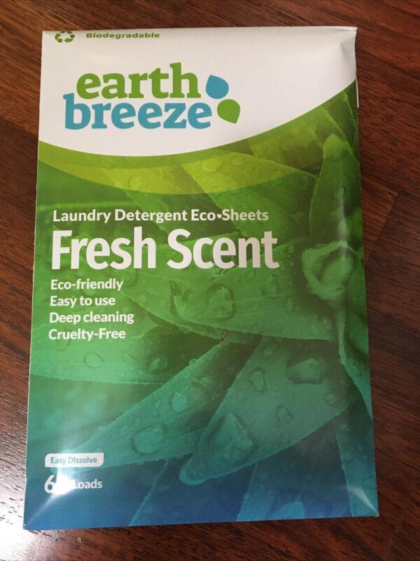 Earth Breeze-Dissolving Laundry Detergent Eco Sheets, Clean, Fresh Scent