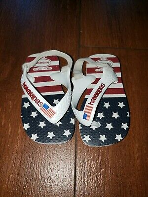 Havaianas USA Flag Toddler Flip Flop slingback sandals 5C store (Havaianas Stores)