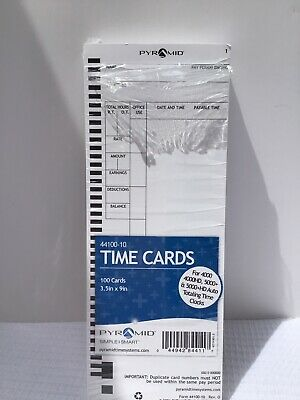 Pyramid 44100-10 Time Cards - Open Pack Of 99 Cards